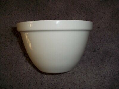 Vintage Royal Falcon Ironstone deep Bowl Weatherby Hanley England - white