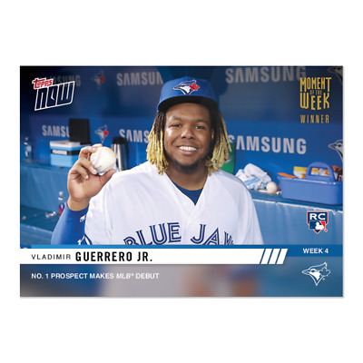 2019 Topps Now Gold Moment of the Week Vladimir Guerrero Jr. RC MOW-4W