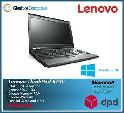 MEGA DEAL Lenovo ThinkPad Office Laptop X230 Core i5 8GB Ram SSD/HDD Windows 10