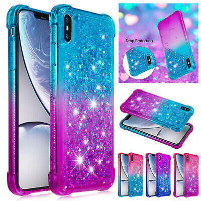 For iPhone XS Max XR X 8 Plus 7 6 Bling Glitter Quicksand Diamond TPU Case Cover