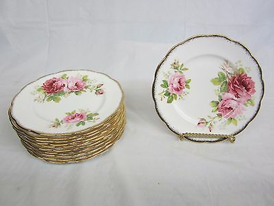 Lot of 12  Royal Albert American Beauty Desert -Salad Plates 7 inches