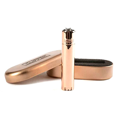 [Limited Edition] 100% Genuine Rose Gold Metal Clipper Lighter with Gift Case