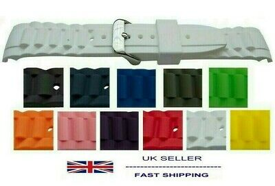 Ice Watch Strap With Curved Ends 17mm 20mm 22mm Sizes + Colours White Black