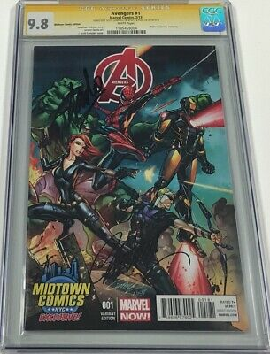 Avengers #1 Midtown Exclusive Signed by Stan Lee & J. Scott Campbell CGC 9.8 SS