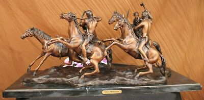 OLD DRAGOONS American Bronze Handmade Sculpturer Frederic Remington Extra Large