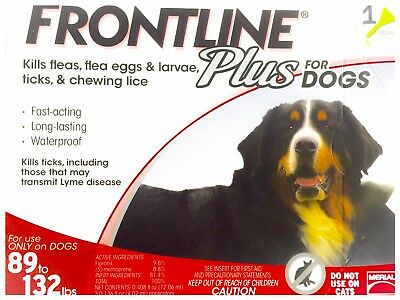 Frontline Plus 89-132 lbs 1 Month Supply  EPA No expiration USA Single Dose