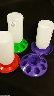 Poultry Chicken Chick 1 QT Plastic Feeder Set / Water Set / Replacement