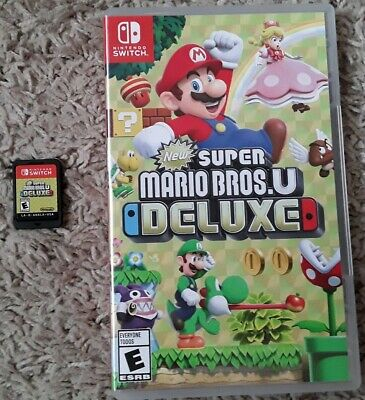 New Super Mario Bros. U Deluxe (Nintendo Switch, 2019)Great Condition! Fast Ship