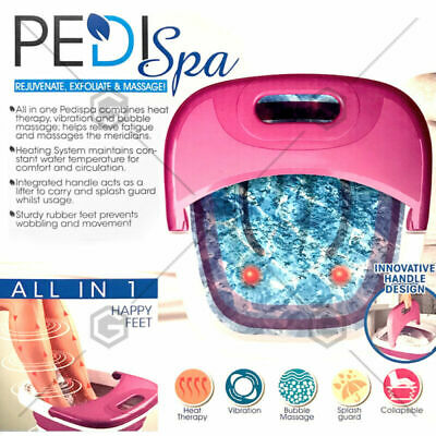 Bath Massager Foldable Collapsible PEDICURE Vibration Relaxing Foot Spa Heating