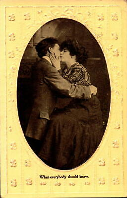 Postcard Romance What Everybody Should Know embossed 1910 Postmark