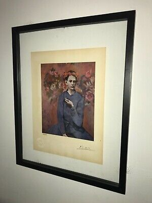 Pablo Picasso 1954 Original Print Hand Signed with Certificate. Resale $3,950
