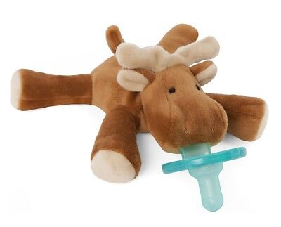 WubbaNub Infant Newborn Baby Soothie Pacifier - Moose