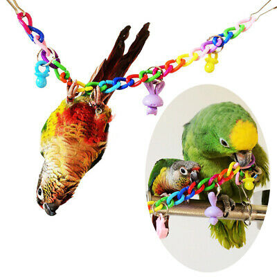 Bird Toy Parrot Swing Cage Toys For Cockatiel Budgie Lovebird Parakeet Colorful