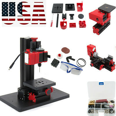 6in1 Multifunction Jigsaw Drilling Sanding Wood-turning Lathe Milling Machine US