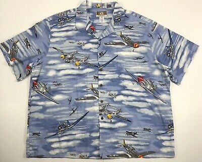 e1d538c0 Kalaheo Hawaiian Mens 3X World War Fighter Bomber Airplanes Hawaiian Shirt