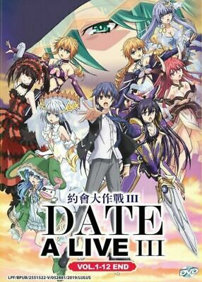 Date A Live (Season 3) DVD (Vol 1- 12 End) with English Dubbed