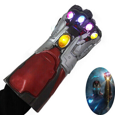 Avengers Endgame Iron Man Infinity Gauntlet Gloves Cosplay Prop with Light