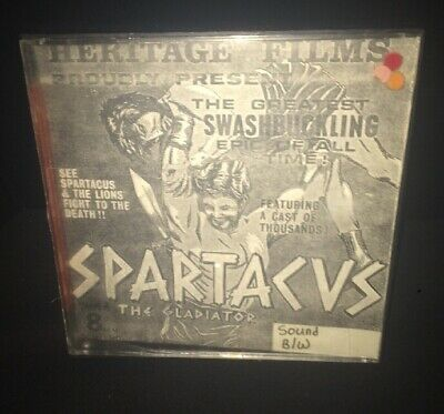 "Spartacus Super 8mm Film Movie B&W 8"" Reel"