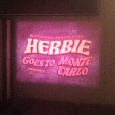 "Herbie The Love Bug Goes To Monte Cristo Super 8mm 5"" Reel Film Walt Disney"