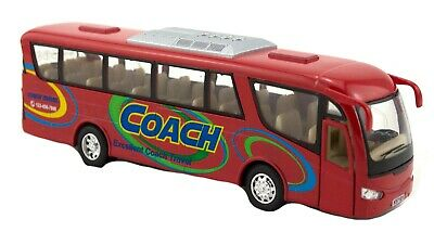 DIECAST BUS coach shuttle car toys vehicle kids gift model pull back pretend fun