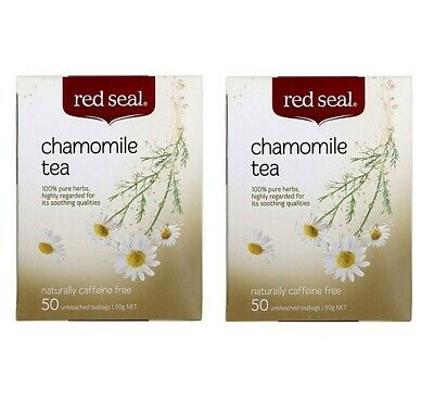 New 2 x Red Seal Chamomile Tea 50 Tea Bags Caffeine Free, Soothes Body & Mind