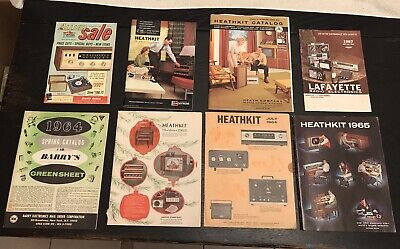 Vintage Heathkit And Other Catalogs - 8 Catalogs Ranging from 1961 - 1965