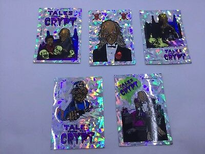 Tales From the Crypt Stickers 90s Horror Decal Crypt Keeper Lot Of 5 Stickers