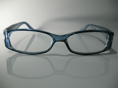 Foster Grant Posh Blue & Silver Flower Womens Reading Glasses 1.00 Spring Hinges