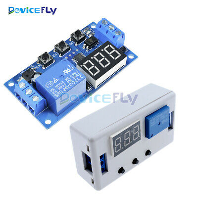 Digital 24V LED Display Automation Delay Timer Relay Control Switch Module Case