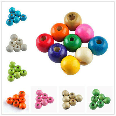 1000pcs Round Wood Ball Spacer Loose Beads 4mm 5mm 8mm 10mm 12mm 14mm 16mm Pick