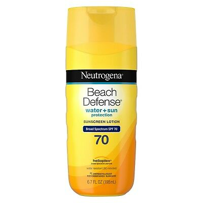 Neutrogena Beach Defense Sunscreen Body Lotion Broad Spectrum Spf 70 6.7 Oz.