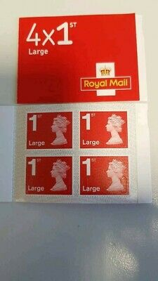 2 books of4 x 1st class large letter stamps Royal Mail- Self adhesive