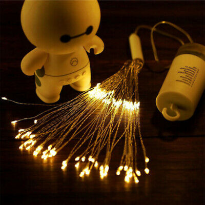 Firework Battery Power LED String Copper Wire Fairy Lights Xmas Party Decor Lamp