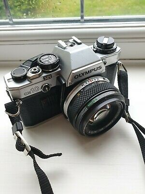 Olympus OM10 35mm SLR Film Camera with 50mm  f/1.8 Lens Immaculate Condition