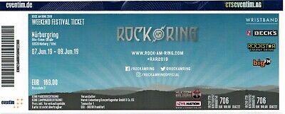 1 Weekend Festival Ticket - ROCK AM RING 2019 - Nürburgring - Die Ärzte / Tool