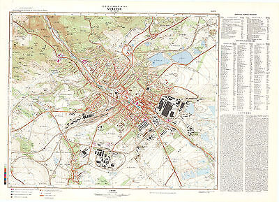 Russian Soviet Military Topographic Maps -  CHOMUTOV (Czech Republic) 1:10 000