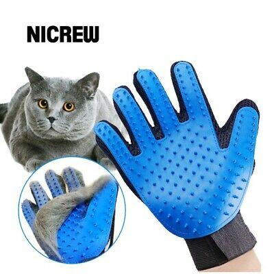 NEW Pet Soft Silicone Dog Cat Pet Brush Glove Cleaning Grooming Deshedding Hand
