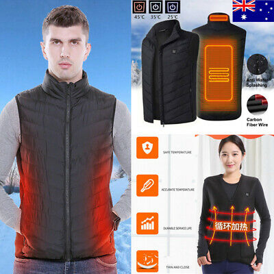 Electric Vest Heated Cloth Jacket USB Thermal Warm Heated Pad Winter Warmer Vest