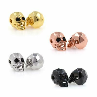 1pc/pack Brass Spacer Beads - 13x10x8mm Zircon Eyes Skull Loose Beads for DIY