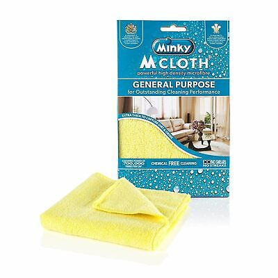 Minky General Purpose Yellow Microfibre Cleaning Cloth Thick Home Chemical Free
