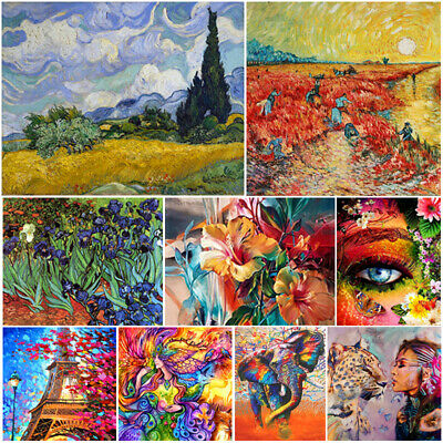 Colorful DIY Paint By Numbers Kit Digital Oil Painting Artwork Home Wall Decor