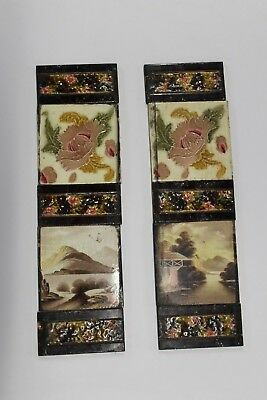 Reclaimed Fire Place Surround Decorative Victorian Tiles (10) (Pretty1)