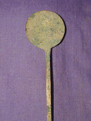 Ancient Large Size Bronze Spoon Islamic 1400 AD No Reserve  #1152