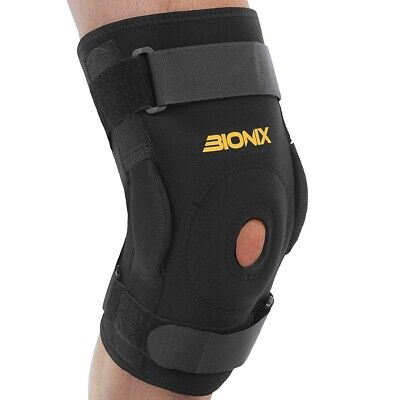 Hinged Knee Support Brace Arthritis Patella Stabilizer Neoprene Running Gym Wrap