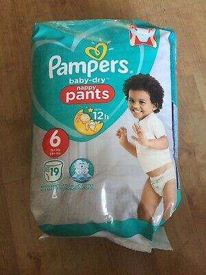 Pampers Baby-Dry Nappy Pants (Size 6) 19 Nappies GENUINE