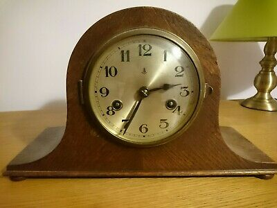 Gustav Becker Napoleon Hat Mantel Clock - perfect working order Westminster