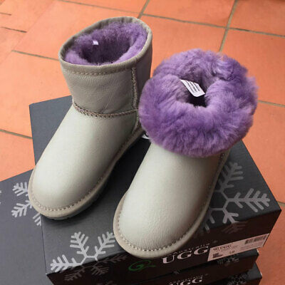 Kids UGG Boots - Child Mini ,Premium Australian Sheepskin, Non-Slip