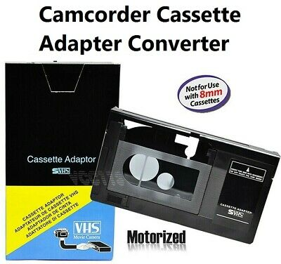 Camcorder VHS Cassette Size Converter Video Player Adapter Device