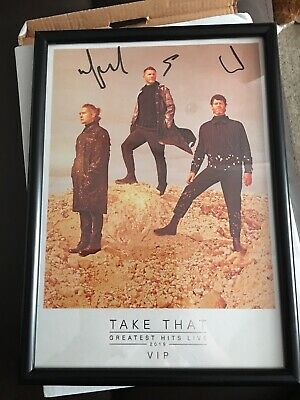 Take That Signed Framed Picture 2019 From Vip Tour Bag