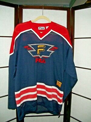 b165f4812 Vintage Fila Sport Men's Hockey Jersey Size Medium Sewn Excellent! Free  shipping